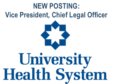 NEW Job Posting: Vice President, Chief Legal Officer
